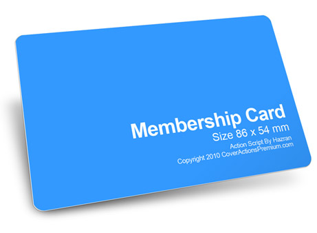 Member Card Mockup Action Script Cover Actions Premium Mockup