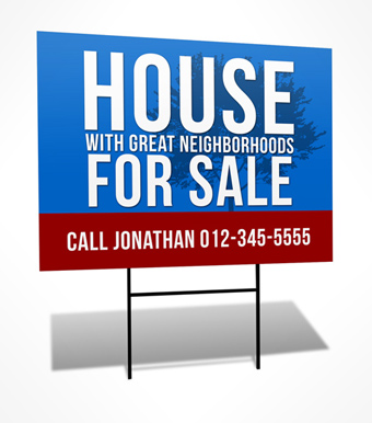 political yard sign Cover Actions Premium Mockup PSD Template