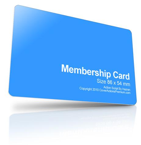 member card design Cover Actions Premium Mockup PSD Template