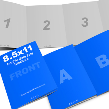 4panel 8_5x11 Double Gate Fold Brochure Cover Actions Premium - gate fold brochure mockup