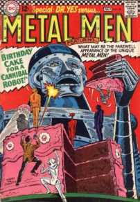 Metal Men #20: B.O.L.T.S. at his most embarrassing moment.