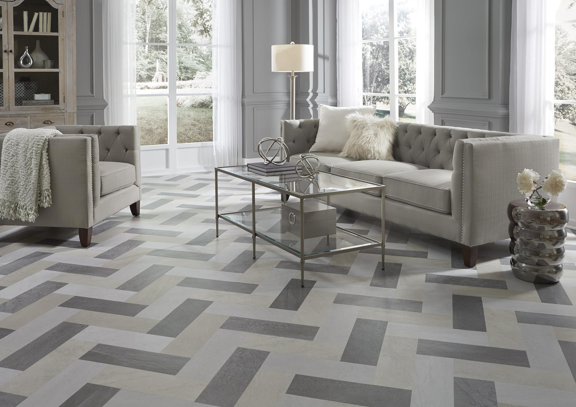 Patterned Carpet In Living Room