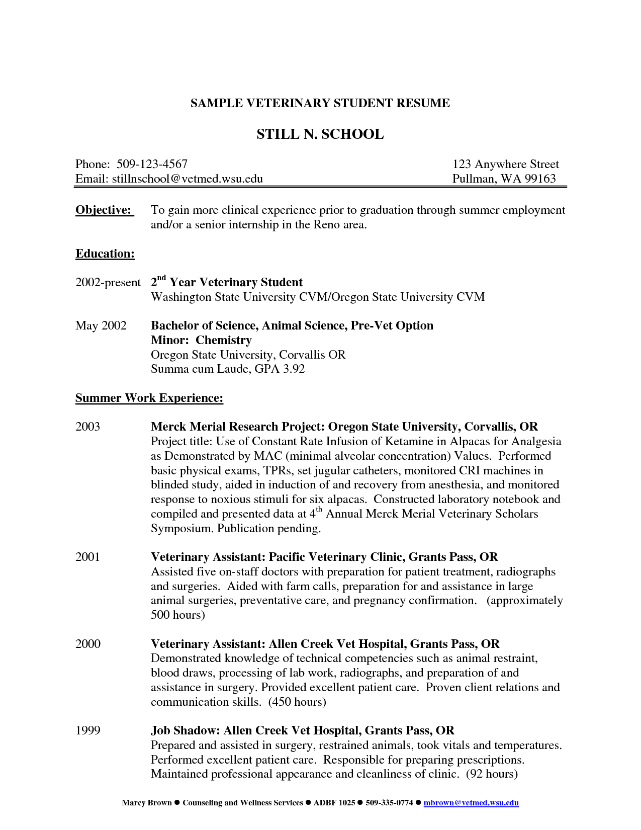 Sample Resume For Veterinary Assistant Veterinary Assistant Resume Occupationalexamplessamples 10 Acupuncture Resume Templates And 2015 Examples 1