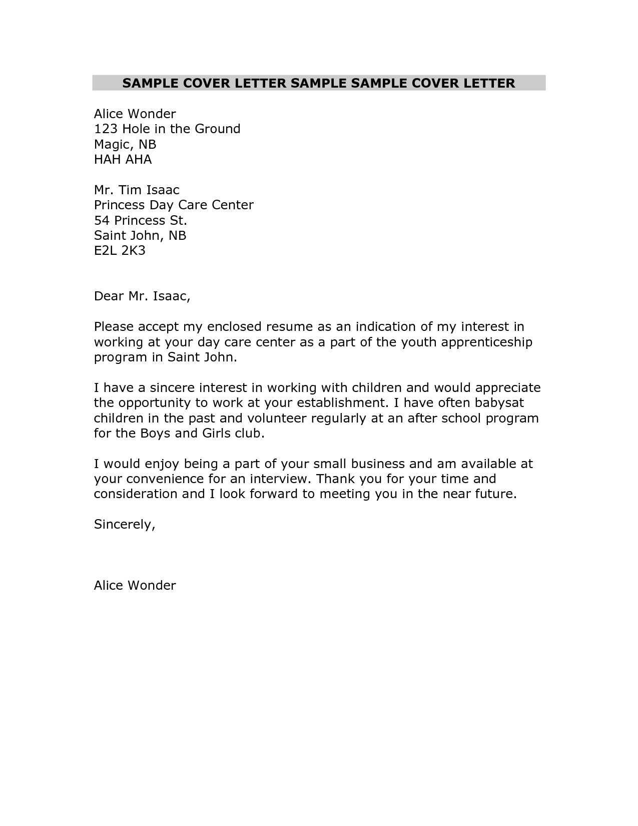 Daycare Assistant Cover Letter Medium Size Of Resumerestaurant