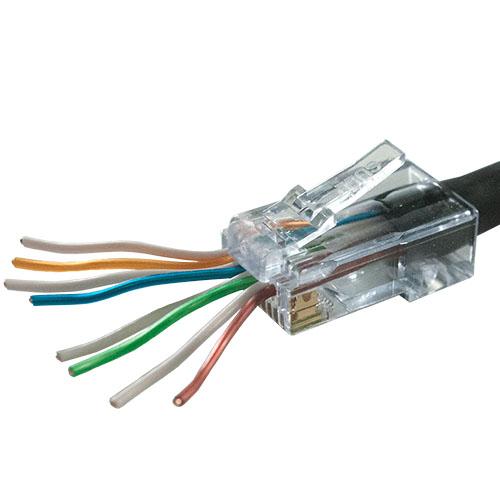 RJ Plug, EZ-RJ45, Cat5E - Cables, Wall Plates and Audio/Video