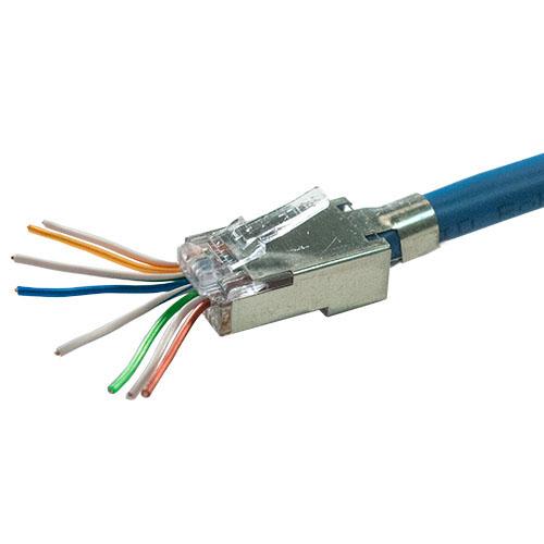 RJ Plug, EZ-RJ45, Cat5E/6, Shielded - Cables, Wall Plates and Audio