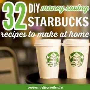 DIY Starbucks Copycat Recipes