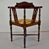 Edwardian corner chair - Antique Furniture
