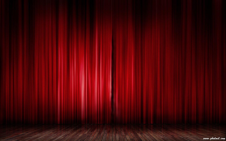 76650 superb beautiful stage red curtain desktop wallpaper