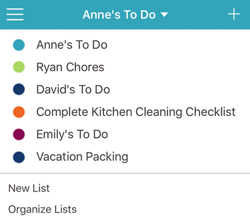 Getting Started with Cozi To Do Lists Cozi Family Organizer