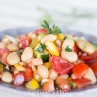 Salat aus dicken weißen Bohnen