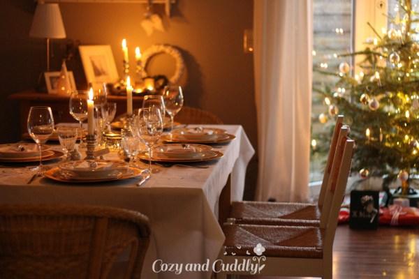 Weihnachten im Haus – unser Weihnachtstisch