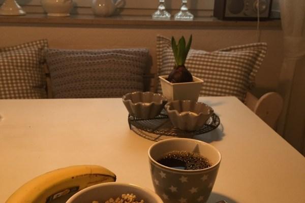 Den Tag mit einem anständigen Frühstück begonnen