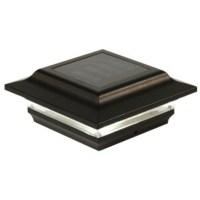 4x4 Black Aluminum Imperial Solar Post Cap - Black