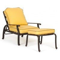 Florence Cast Aluminum Adjustable Outdoor Club Chair ...