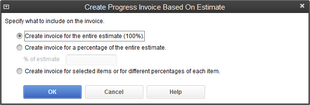How to Create a Progress Invoice from an Estimate Chiampou Travis - creat an invoice
