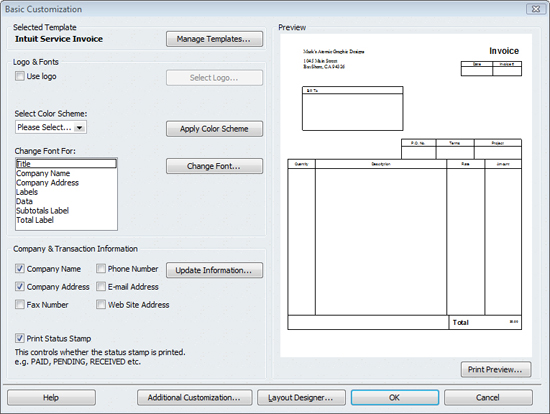 Look Professional With Customized QuickBooks Forms Chiampou Travis