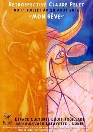 Rétrospective de Claude Pelet - Affiche