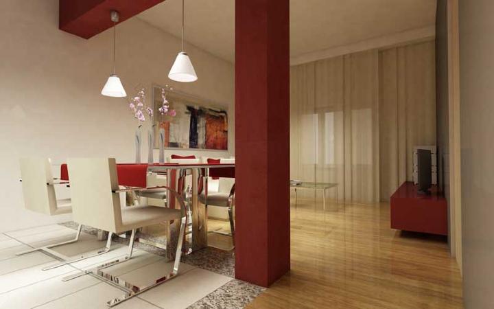 Come scegliere il colore delle pareti di casa - Pilastri portanti incassati in una parete ...