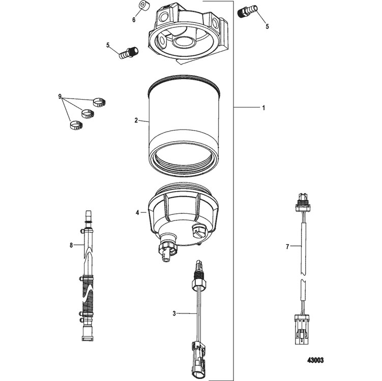 mallory filter fuel water separator