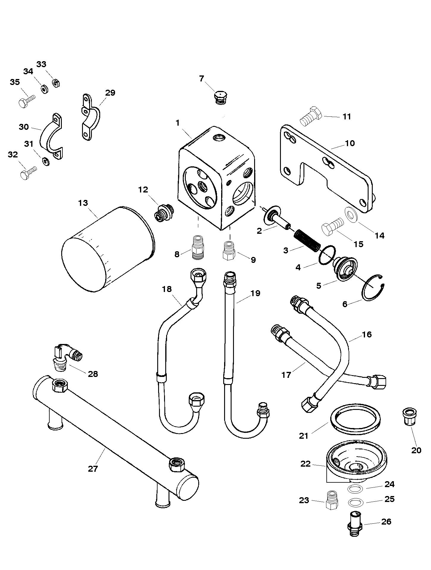 ac fuel filter mount 643654