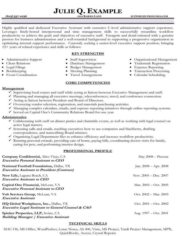 combination style resume examples for administrative assistant