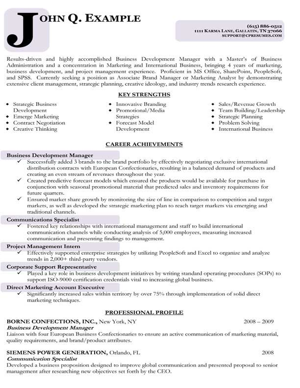 Business Development Resume Examples - Examples of Resumes