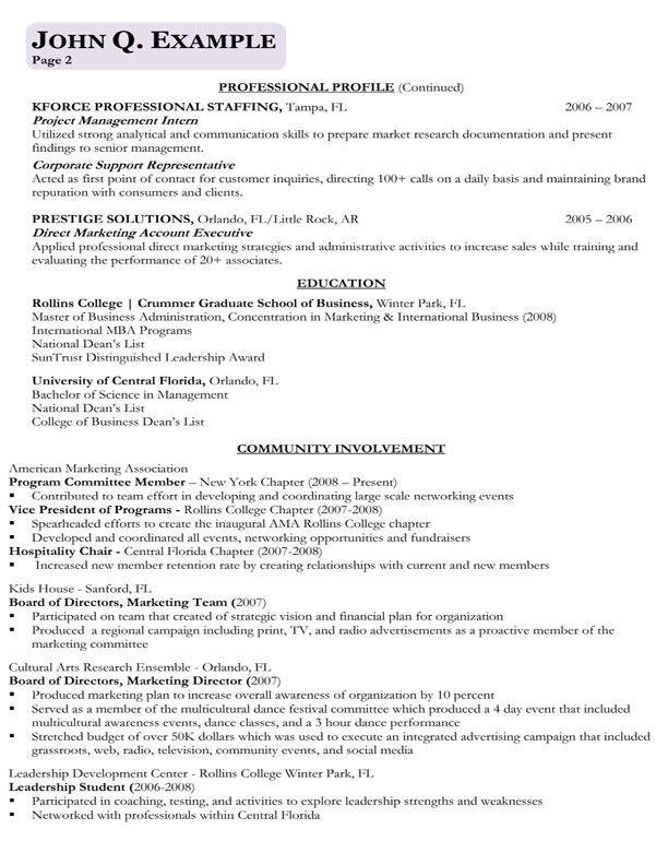 Index of /samples - Business Resume Example