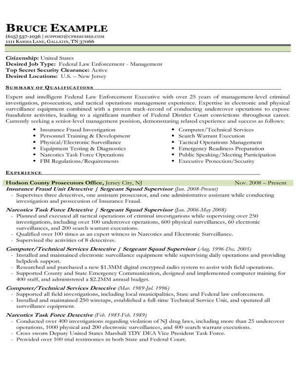 Law Enforcement Resume Examples And Samples Cover Letter For Objective Example  Resume Resume Sample Police Samples  Sample Law Enforcement Resume