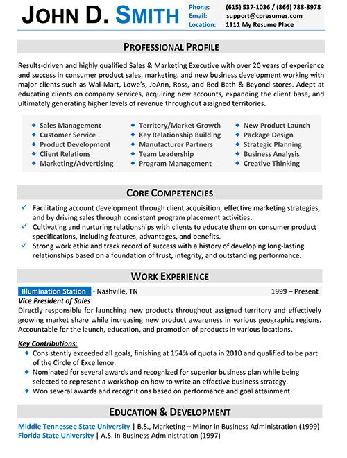 Resume Samples Types of Resume Formats, Examples and Templates - executive resume formats and examples