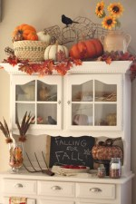 Fall Decor Decorating A Hutch