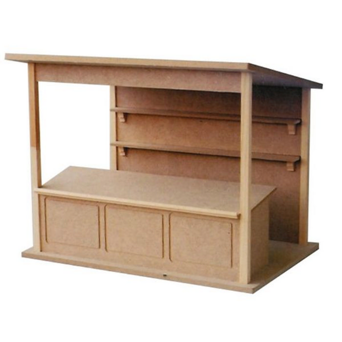 3d Shelves Wallpaper Market Stall Kit 1 12 Scale Dh514