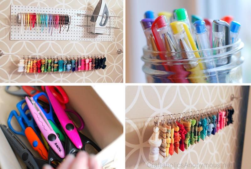 Craftaholics Anonymousr 18 Ribbon And Fabric Storage Ideas