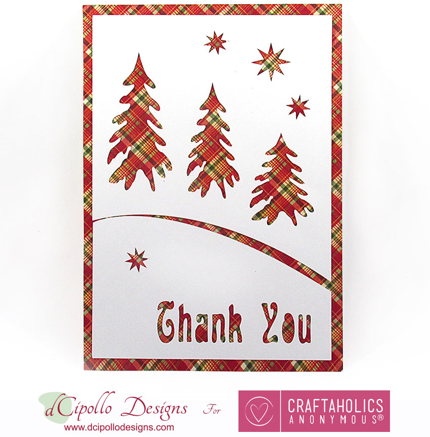 Craftaholics Anonymous® Holiday Thank You Card