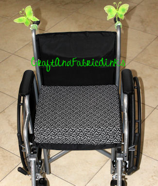 Wheelchair Seat Cushion Cover Free Sewing Pattern