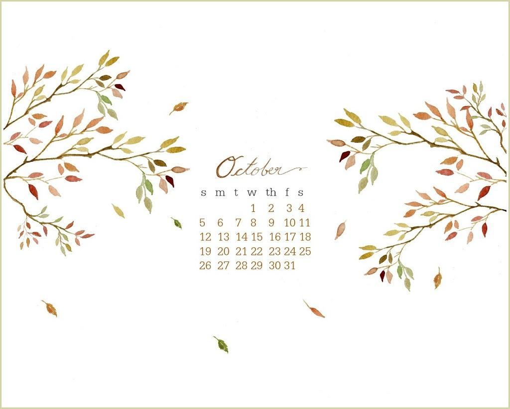 Dance With God Quotes Laptop Wallpaper October Free Desktop Watercolor Calendar