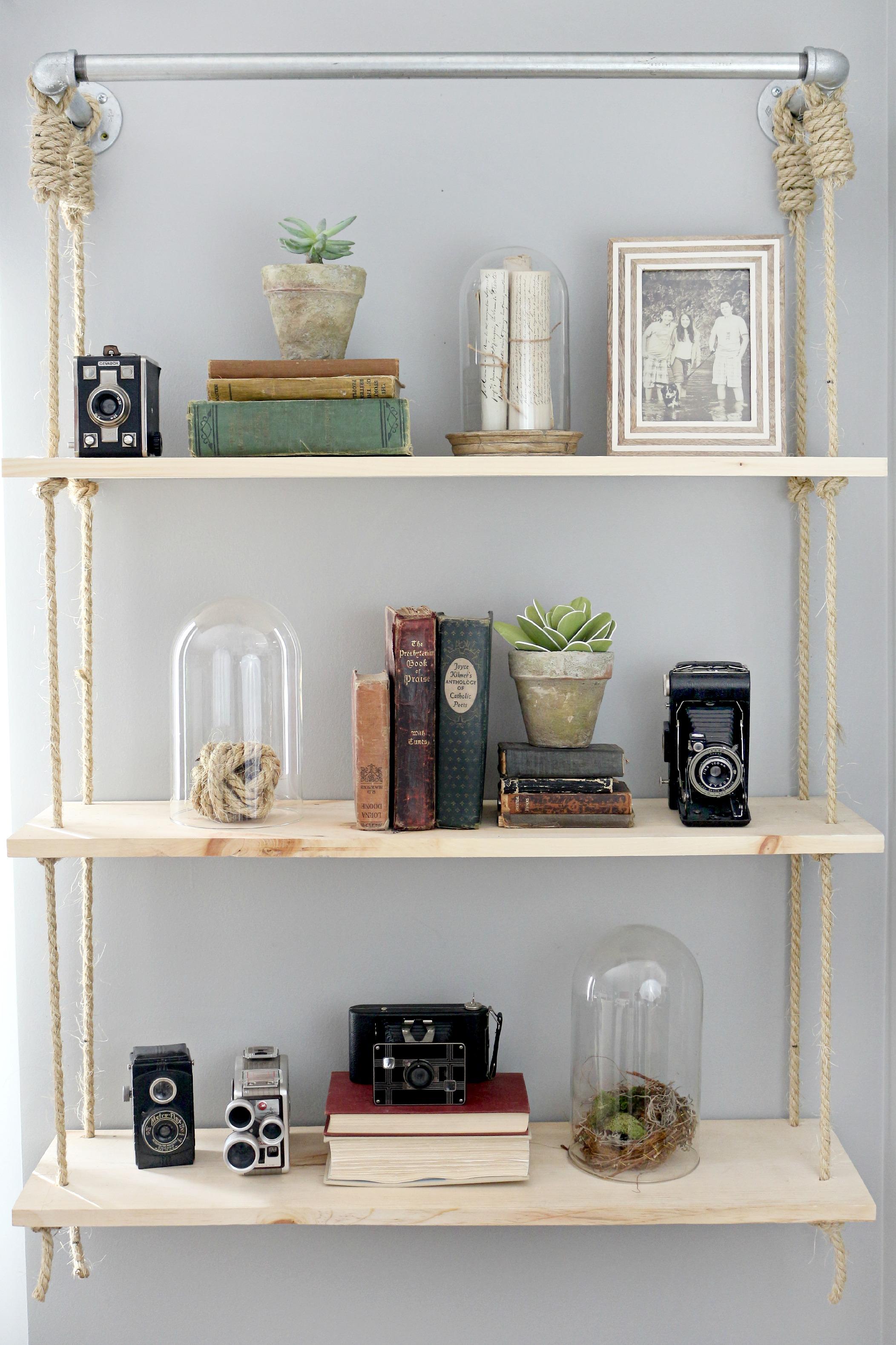 Hanging Shelves Diy
