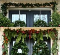 A Garland Hack and How to Make and Hang Window Christmas Swag