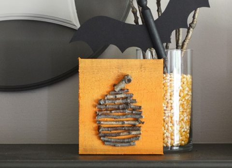You'll love this easy to make rustic twig pumpkin as part of your Halloween decorations!