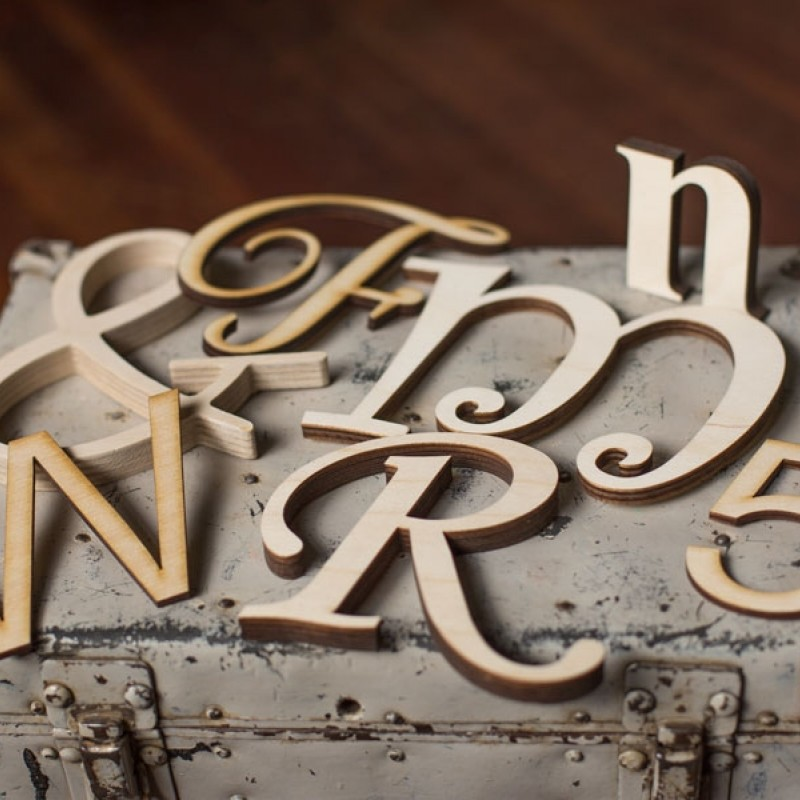 Wood Wall Letters - Custom Wood Lettering Craftcuts