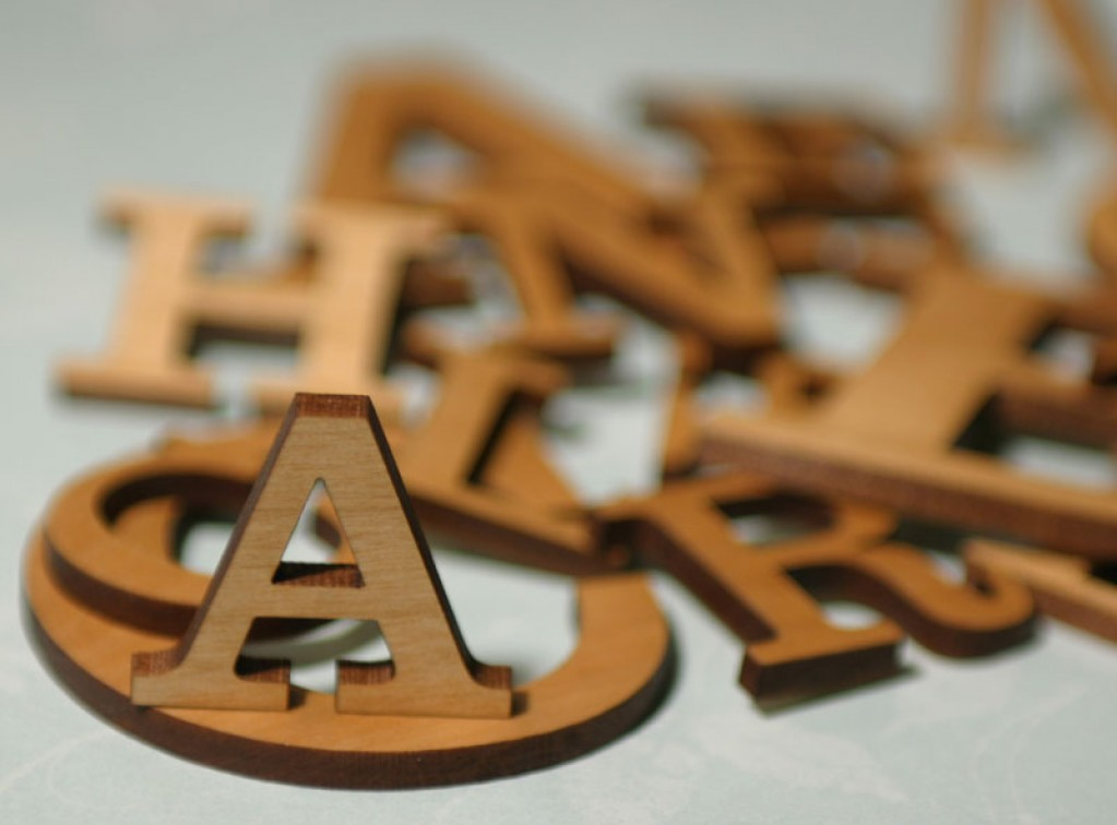 Stained Alder Wood Letters - Little Letters in Any Font Craftcuts