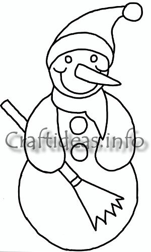 Christmas and Winter Craft Template - Snowman