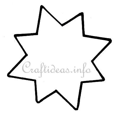 Christmas Craft - Eight Pointed Star Template - star template