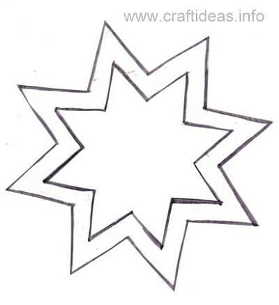 Free Craft Pattern for 8 sided star - star template