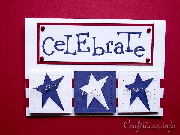 4th of July or Independence Day Invitation Card Craft - Celebrate