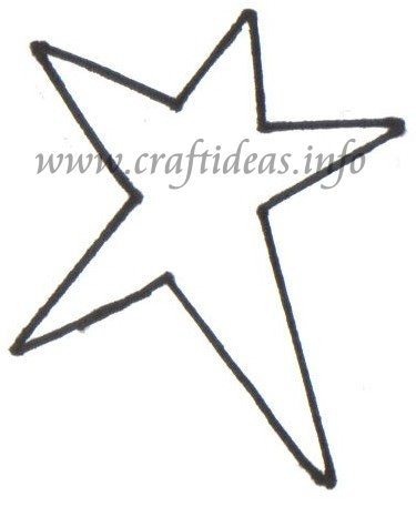 Free Christmas Wood Crafts - Country Star Template - star template