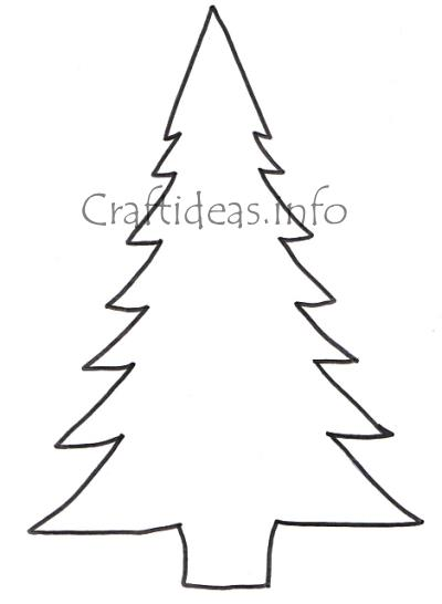 Craftideasinfo - Free Craft Pattern - Large Christmas Tree - christmas tree printables