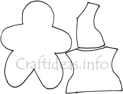 Free Christmas Craft Template - Gingerbread Man and Clothes Template - gingerbread man template