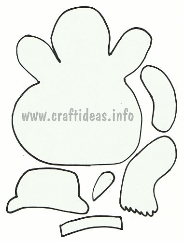Free Winter and Christmas Craft Template or Applique - Snowman - snowman template