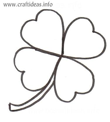 Free Patterns - Four Leaf Clover - St Patricku0027s Day - Shamrock - shamrock template